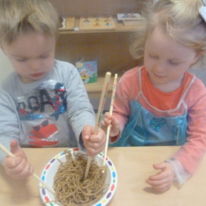Spring Rolls to Bubble Wrap at Children 1st at Leek Pre-School