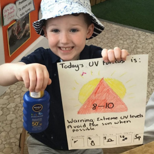 Sun Safety Messages from Children 1st @ Plumtree