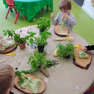Playdough activities at Children 1st @ Grantham