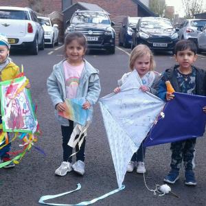 Celebrating the Japanese Kite Festival at Children 1st @ Birstall