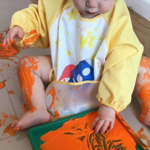 Body Painting in Baby Room at Children 1st @ Leciester!